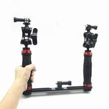 Handheld Griff Hand Grip Stabilisator Rig Unterwasser Scuba Tauchen Dive Fach Halterung für Gopro Hero Kamera SJCAM Camcoder Smartphone