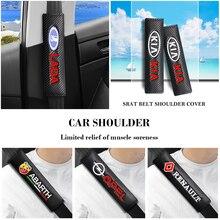 Seat-Belt-Cover-Case Car-Logo Audi SUZUKI TOYOTA Car-Accessories FORD PEUGEOT BMW 2PCS
