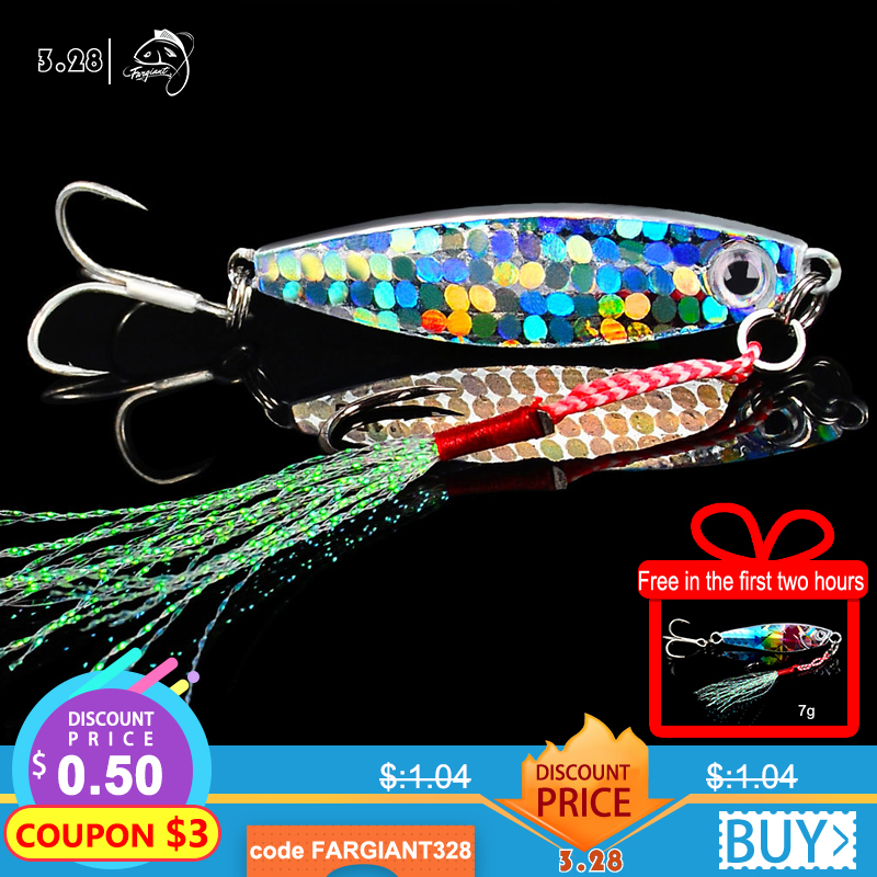 Fargiant Fishing Lure Jigging Jig Light Shad Lure Bait Wobbler Spinners Spoon Bait Squid Octopus Winter Sea Ice Fishing Minnow