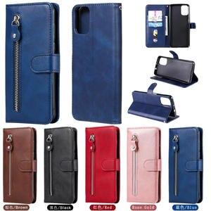 Image 1 - Para Motorola G9 Plus cremallera caso Motorola G9 G 9 jugar Retro de cuero caso de cartera para Moto G9 G Plus + cubierta