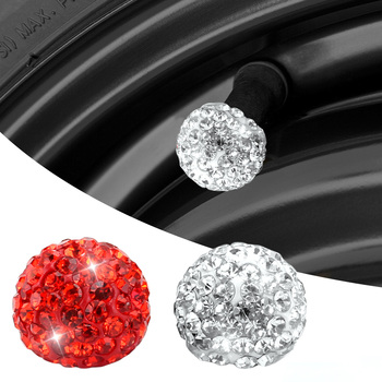 4PCS Car Wheel Tire Valve Cover Dust Crystal Waterproof Valves Tyre Stem Air Caps case Auto Tyre Accessories Styling 2021 Hot image