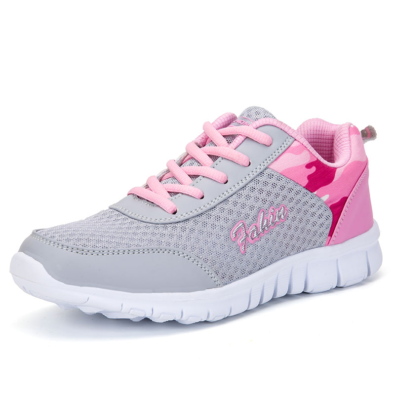 Promo Breathable Mesh Women Sneakers Outdoor Fashion Shoes Woman Lightweight Female Casual Shoe Soft Ladies Flats Sports Footwear 42