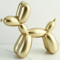 New Small Balloon Dog Statue Resin Crafts Ins Modern Nordic Style Fashion Cake Baking Family Decoration Animal Sculpture
