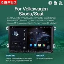Kapud Android10 reproductor de Radio para coche estéreo 9''Autoradio Multimidia clásico para VW/Volkswagen/Passat/Golf/Polo/Octavia/Tiguan/B7 Gps