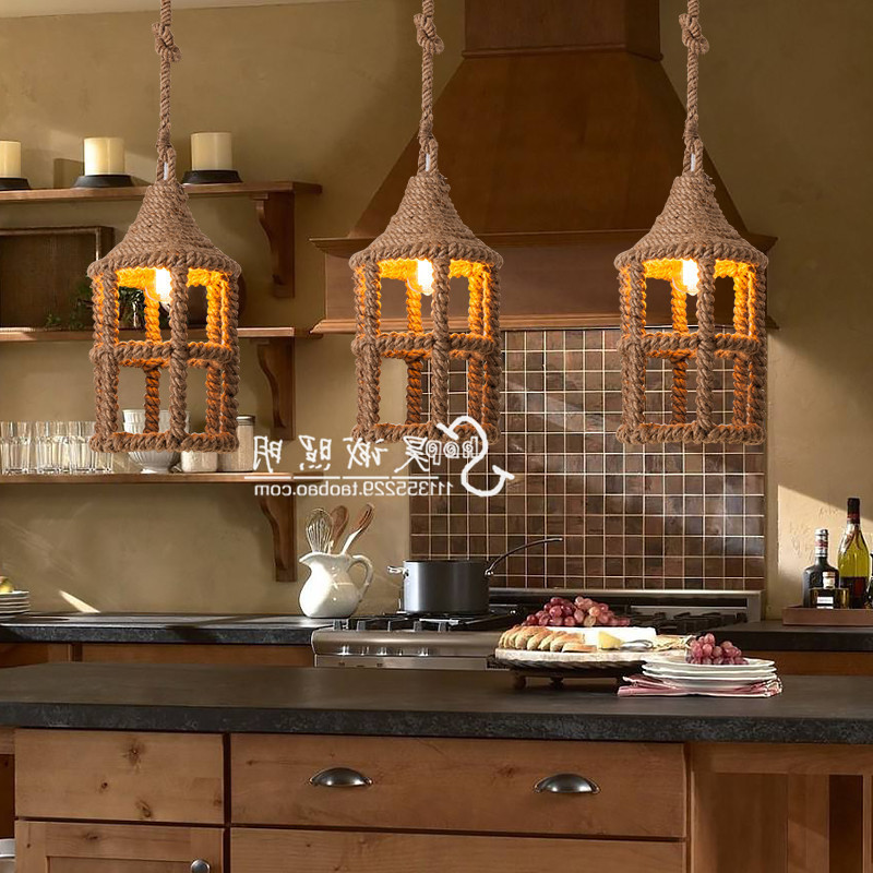 American Country Hemp Chandelier Loft Retro Art Designer Guest Restaurant Coffee Bar Clothing Store Decoration Lampen