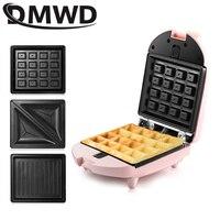 DMWD البسيطة صانع الساندوتشات الكهربائية الهراء الحديد آلة بانيني الخبز كعكة فرن خبيز الكعك الإفطار محمصة 3 اختياري لوحة الاتحاد الأوروبي