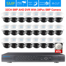 TOPROHOIME H.265 + 32ch CCTV System 24Pcs 5MP 2592*1944 IP66 Vandalproof Indoor outdoor Sicherheit Kamera Video überwachung kit(China)