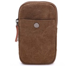 Canvas mobile phone bag wear belt waist bag iPhone6 mobile phone bag coin purse cycling running sports outdoor bag