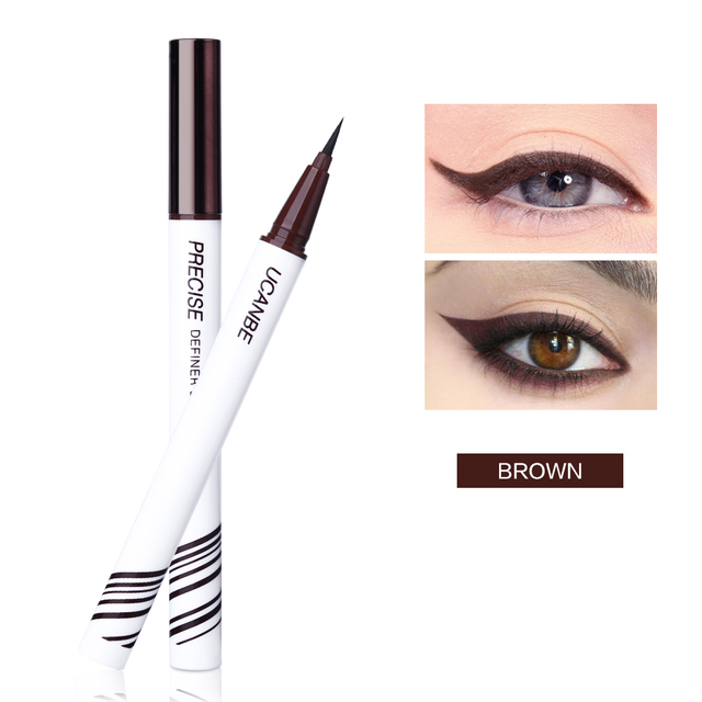 UCANBE Liquid Eyeliner Pencil Black Brown Eye Liner Pen Waterproof Long Lasting Makeup Ultra-fine Tip Non-fading Eyes Cosmetics 4