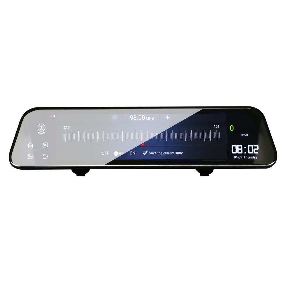 12 Polegada Android 8.1 Adas Dvrs Câmera Do Carro Traço Cam Gps Navi do Bluetooth Gravador de Vídeo Fhd 4G Wi fi Dvr espelho - 4