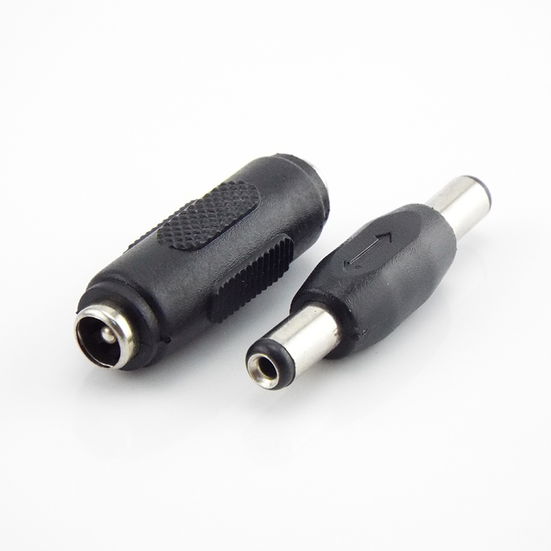 5.5*2.1mm DC Double Male To Male Jack End Plug Connector Power Socket Female To Female Wire Panel Mounting Adapter 5.5mm 2.1mm