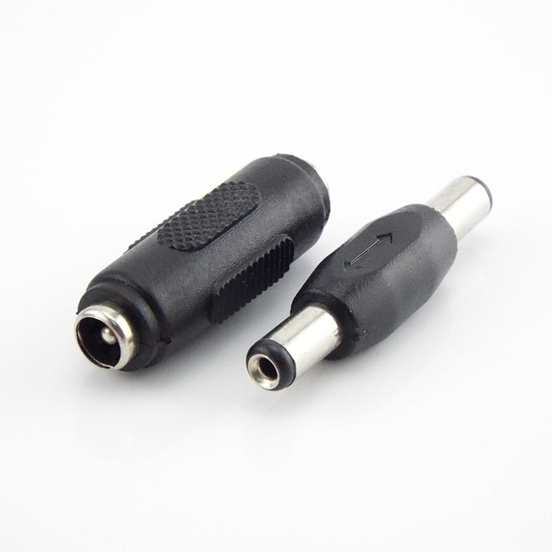 Двойной штекер-штекер 5,5*2,1 мм постоянного тока, штекер-штекер, разъем питания «гнездо-гнездо», монтажный адаптер для панели проводов 5,5 мм 2,1 ...