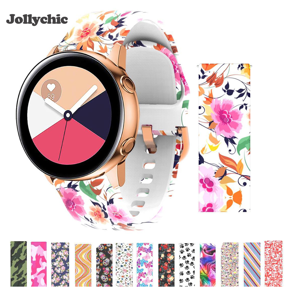 Silicone Watch Strap For Samsung Galaxy Active  Galaxy 42 Band 20mm S2 Band  Amazfit Bip Youth/Gear Sport/Garmin Vivoactive 3