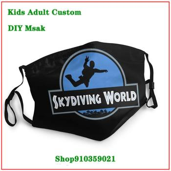 Unique washable reusable face mask Skydiving World Skydiver Gift mascarillas de tela lavables con filtro earloop mask