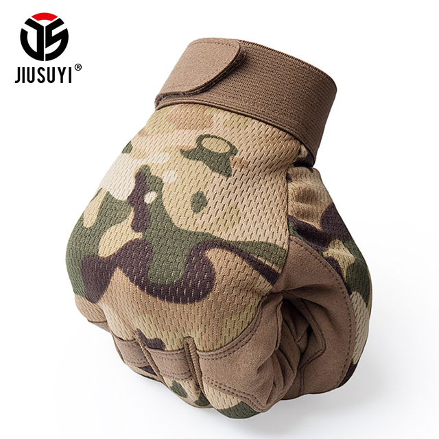 Multicam Tactical Gloves Antiskid Army Military Bicycle Airsoft Motocycel Shoot Paintball Work Gear Camo Full Finger Gloves Men 2