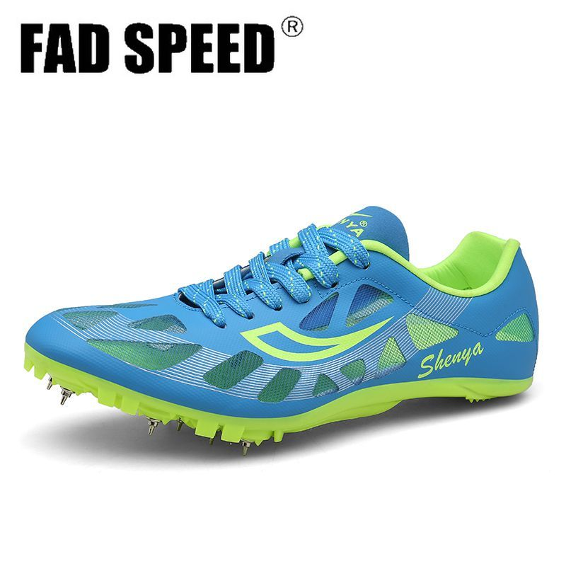 Professional track and field shoes men's sports shoes athletes sprint training shoes women's spikesSoft comfortable breathable