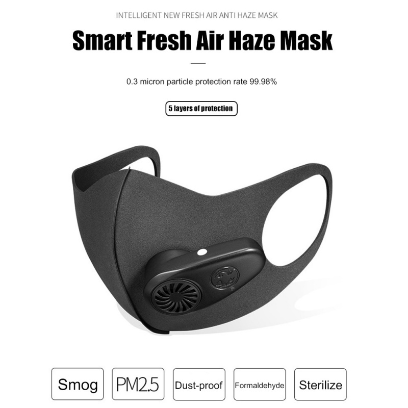 Smart Face Masks With Breathable Valve Air Purifying Respirators Cotton Mask With USB Charger Outdoor Activities Masks y