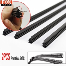 Wiper-Blade Refill Windscreen-Replacement Windshield Frameless Or 6mm 2PC 24-26-Rubber