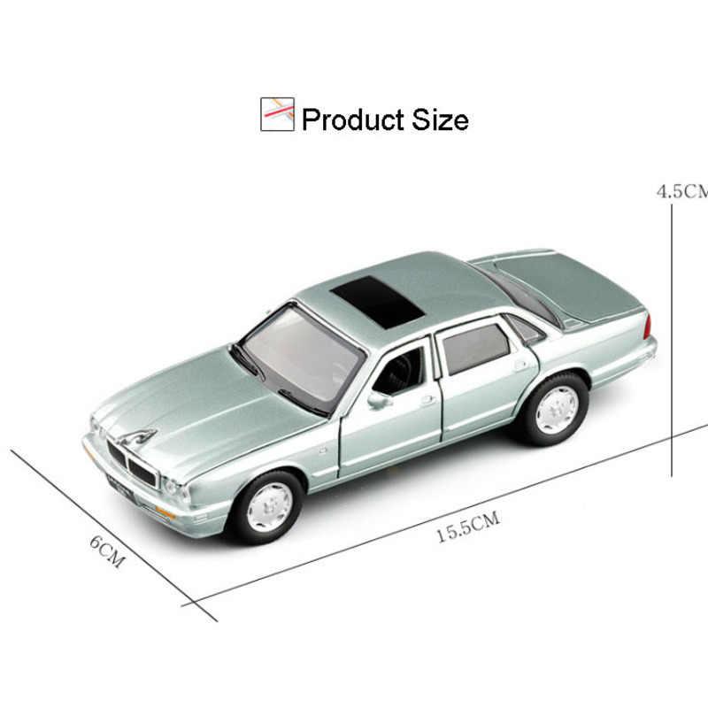 لعب السيارات 1:32 جاكوار XJ6 الكلاسيكية نموذج سيارة Diecasts لعبة السيارات نموذج فاخر مع سحب الصوت والضوء هدية للطفل