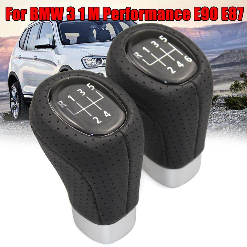 Ручная рычаг переключения передач на 5/6 скоростей, рычаг переключения передач подходит для BMW 3 1 M Performance E90 E87, Черная рукоятка переключения п...