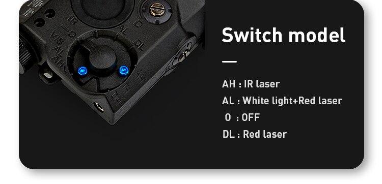 lanterna combinação caça softair Peq-15 arma luzes