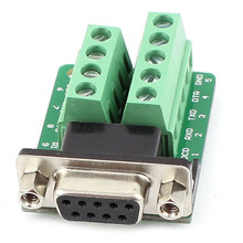 RS232 D-SUB DB9 Female Adapter to Terminal Connector Signal Module(China)