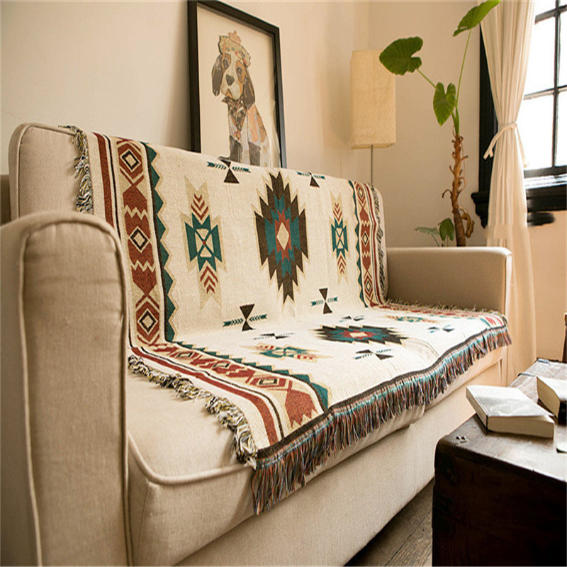 Nordic Geometry Sofa Throw Blanket