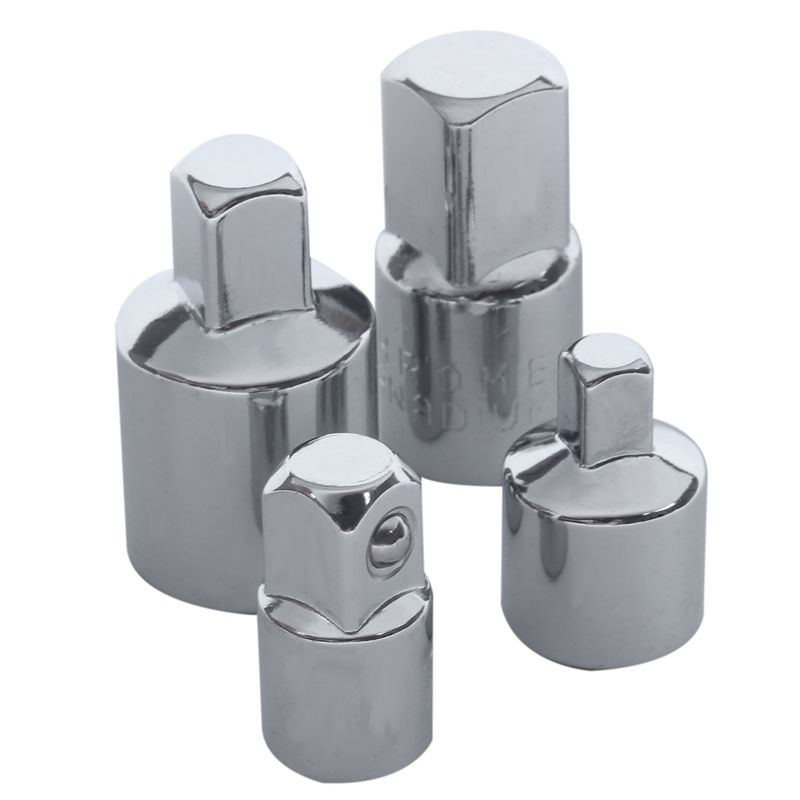 4 in 1 1/2x3/8 3/8x1/4 3/8x1/2 1/4x3/8 Socket Reducers Adaptors <font><b>Tool</b></font> Set Garage <font><b>Mechanics</b></font> Engineers DIY Gadgets image