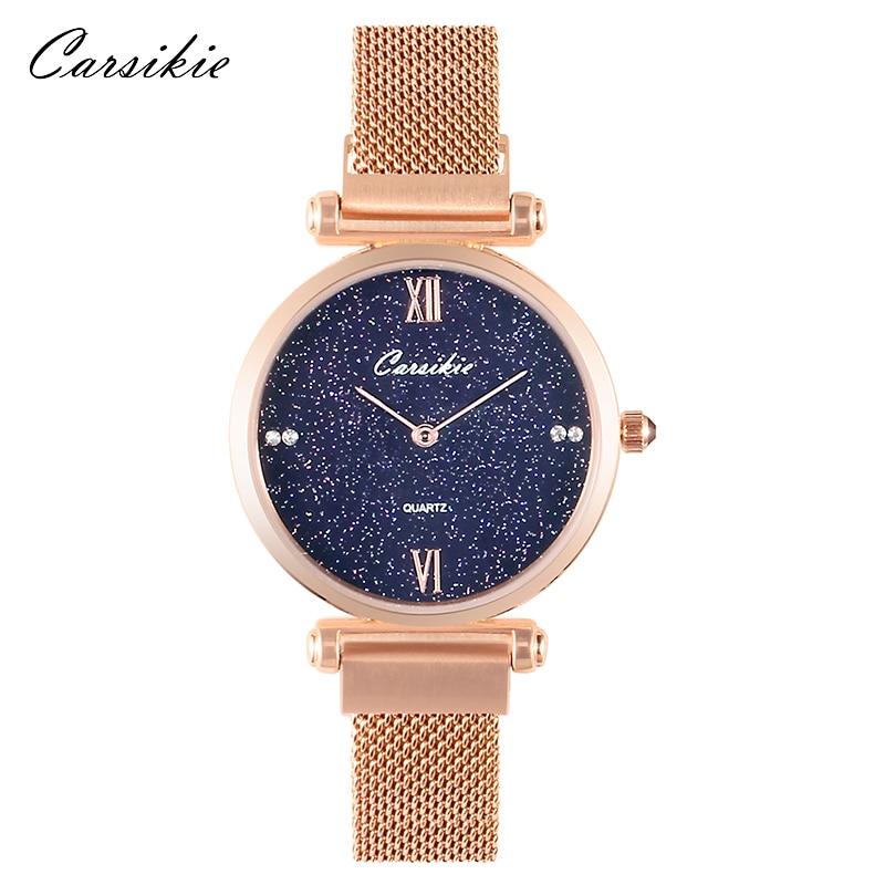 Luxury Rose Gold Women Watch Bracelet Watches Top Brand Ladies Casual Quartz Relog Steel Lady Wristwatch Gift To Girlfriend