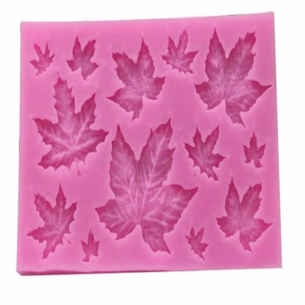 סבון חימר תבניות עיצוב DIY UV שרף עלים בטון מייפל עלים סיליקון 3d קיר פנל תכשיטי אביזרי יצק עוגת עובש