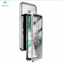 Mzxtby Metal Magnetic Double sided Glass Case For Samsung Galaxy A7 8 9 30 50 60 70 40 M10 Cover Shell magnet Bumper coque case(China)