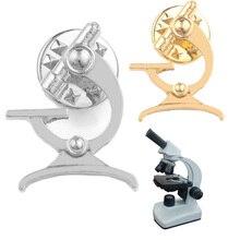 Брошь для микроскопа для биолога, ученого, медицинского металла, науки, химии, научных инструментов, булавка для докторов, студентов, ювелир...