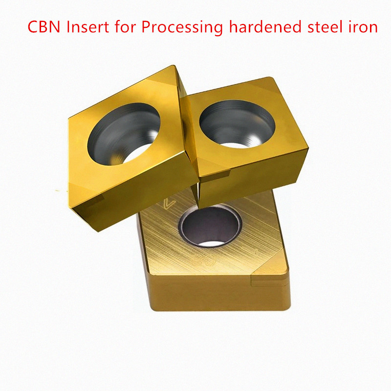 Купить с кэшбэком CBN inserts CCGW09T304 CCMT060204 TWO tip PCBN indexable carbide wood turning lathe tools for processing hardened steel iron 1pc