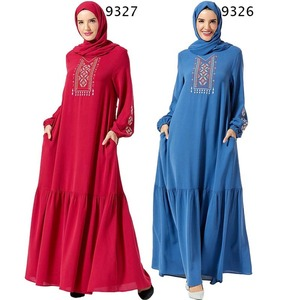 Ramadan Embroidery Turkish Islamic Fashion Turkish Islamic Clothing For Women Vestido For Lovers No Headscarf