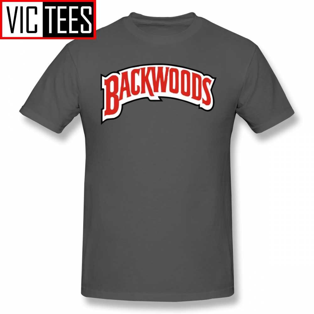 Erkek Backwoods T Shirt Backwoods Logo T-Shirt klasik % 100% pamuk Tee gömlek komik erkekler grafik boy Tshirt