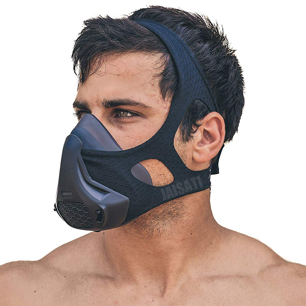 JAISATI High Altitude Sports Mask 2.0 Fitness Workout Elevation Endurance Resistance Oxygen Control Training Sports Mask 3.0