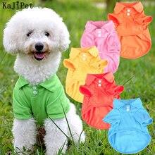 Одежда для маленьких собак poloshirt летняя однотонная мягкая