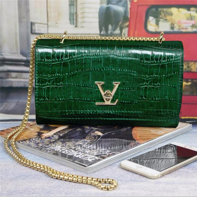 Luxury Handbags Women Bags Designer European Brand Crocodile Chain Shoulder Crossbody Bags For Women Day Clutch Bolsa Feminina