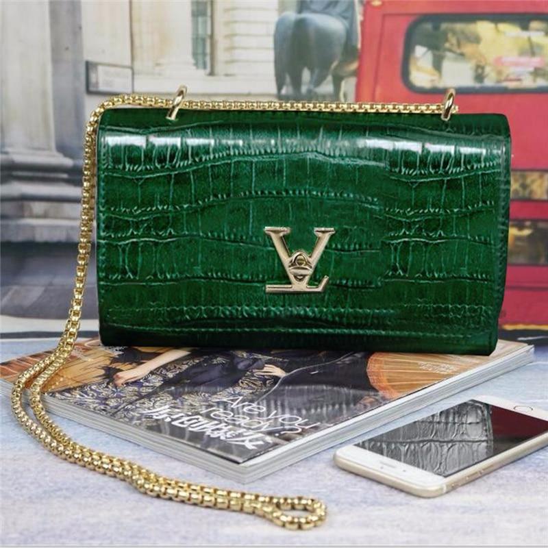 Luxury Handbags Women Bags Designer European Brand Crocodile Chain Shoulder Crossbody Bags For Women Day Clutch Bolsa Feminina