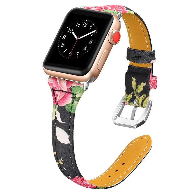 Кожаный ремешок JNASIN для Apple watch 42 мм 38 мм 40 мм 44 мм браслет из натуральной кожи для iwatch series 6 SE 5 4 3