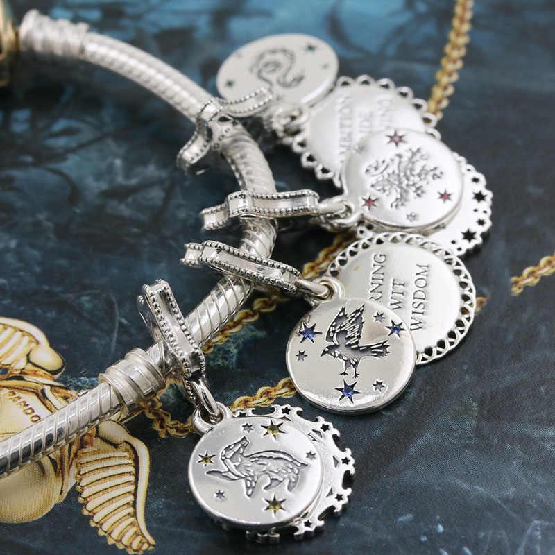 2019 novo frete grátis estilo potter escola de bruxaria hogwarts express talão caber pandora encantos originais prata 925 pulseira