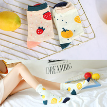 Cute Cartoon Fruit Print Avocado Banana Cherry Peach Girls Kawaii Socks Korean Harajuku Embroidery Pile Heap Funny Socks cute cartoon fruit print avocado banana cherry peach girls kawaii socks meias korean harajuku breathable pile heap funny socks