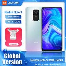 Xiaomi-Smartphone Redmi Note 9 versión Global, teléfono móvil de 64GB y 128GB, Helio G85, cámara cuádruple de 48MP, Note9, 5020mAh, pantalla de 6,53 pulgadas