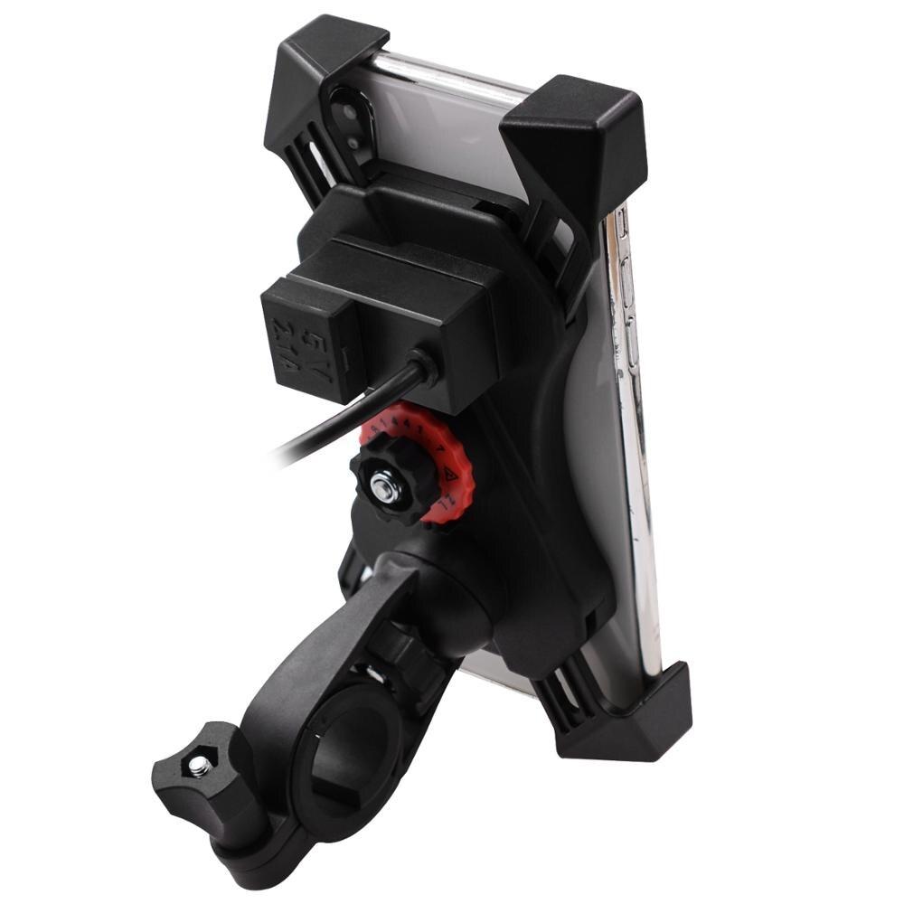 """USB зарядное устройство ABS держатель мобильного телефона мотоцикла зеркало заднего вида/руль для 3,5-6 """"мото оборудования"""