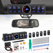 Urbanroad 6 Switch Pod Toggle Switch Panel Source Control System Box Wiring Harness Kit For Wrangler JK Switch Clip Remover