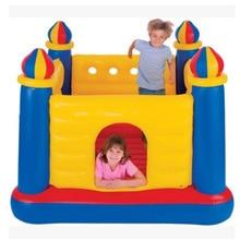 Крытый детский надувной батут открытый детский надувной замок ПВХ безопасный материал домашний батут 175*175*135 см