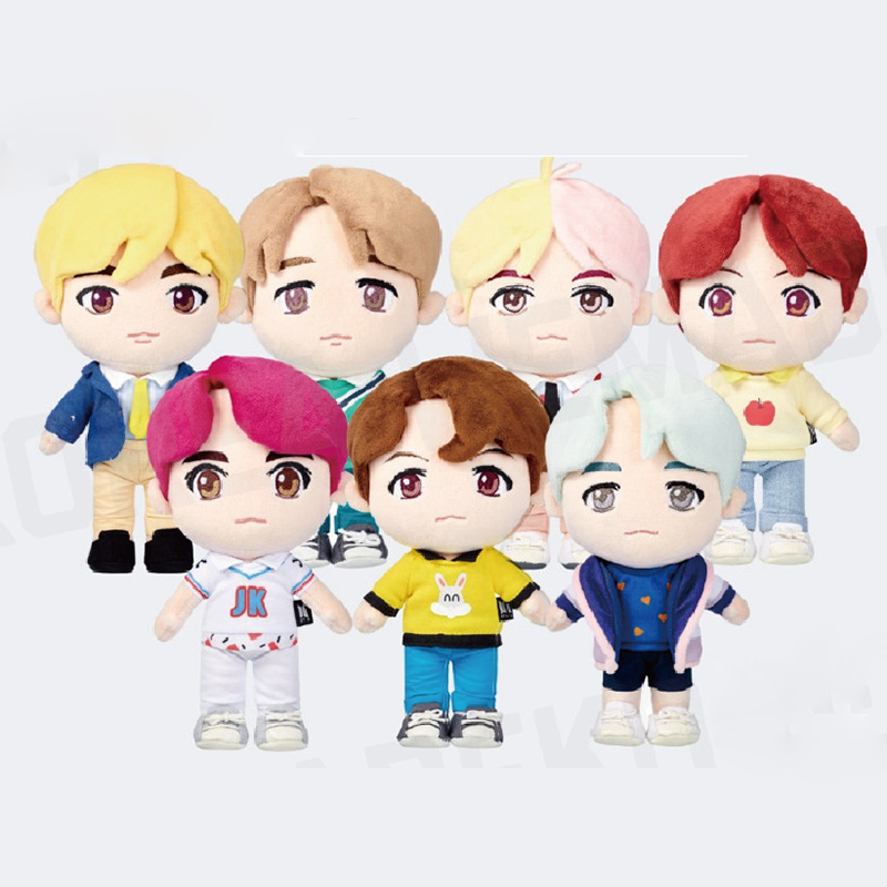 Kpop Bangtan Boys JK House Q Style Plush Toy PP Cotton Lovely Dolls Home Decor Fans Gifts