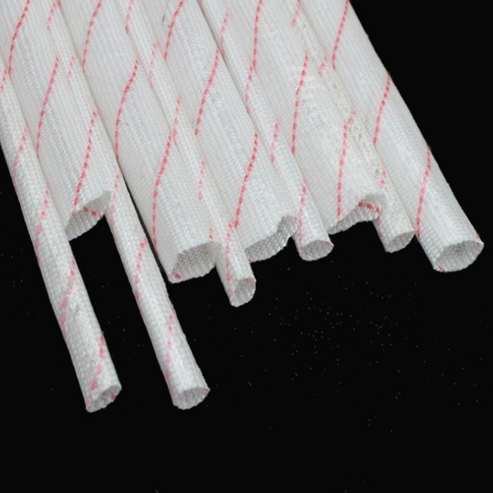 High Qulity Soft Insulation Fiberglass Sleeving Tube 1-10mm Diameter Braided Sleeve Cable Cover 1m