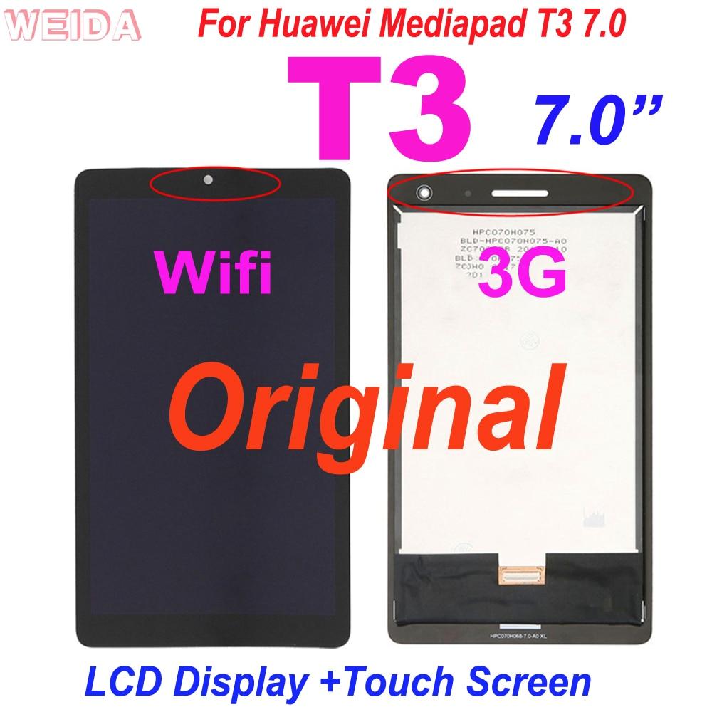 Оригинальный ЖК-дисплей 7,0 дюйма для Huawei Mediapad T3 7,0 дюйма, 3g или Wi-Fi