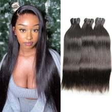 Extension de cheveux brésiliens naturels vierges lisses, qualité 10A, 6 à 46 pouces, tissage de cheveux pouvant être teints pour femmes noires